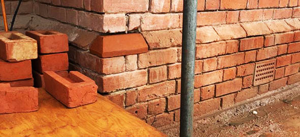 picture of property during single brick replacement