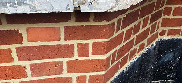 picture of flush pointing after restoration