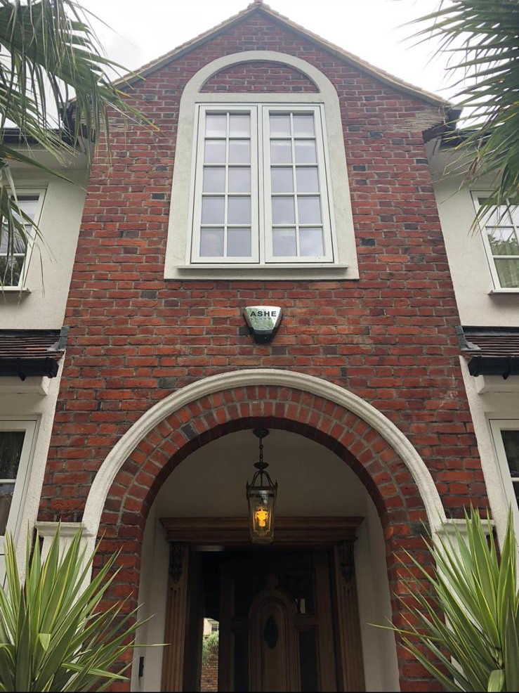 Property in Kew Gardens before traditional tuckpointing restoration.