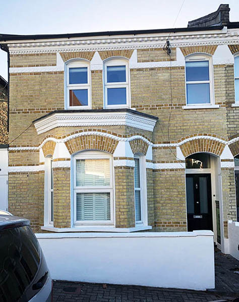 Property after brick paint removal restoration in London